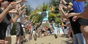 team building beach olympics