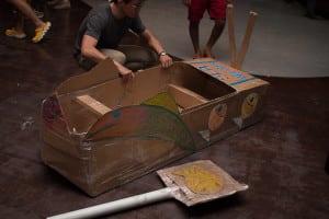 Cardboard Boat Building Challenge team building